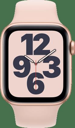 ساعة ابل SE GPS، 44 ملم هيكل من الالمنيوم و سوار رياضي لون ابيض - عادي