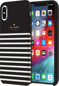 e4cf2414a060 Kate Spade Apple iPhone XS Max Soft Touch Comld - Fdr Strp - Blk