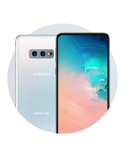 samsung galaxy s10e white circle cut out